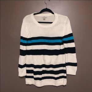 Loft Striped Sweater size large